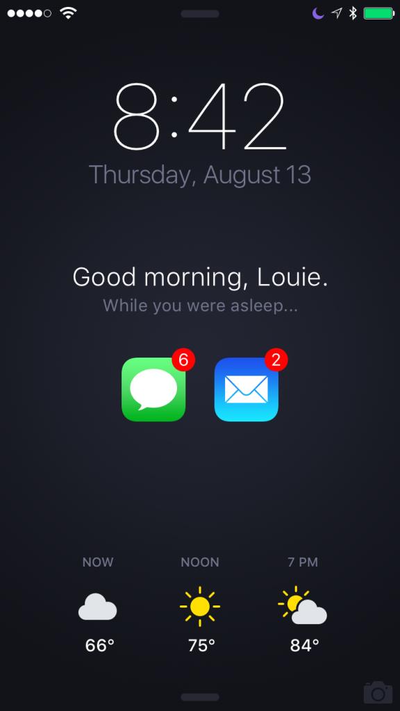 路易·曼迪亚(Louie Mantia)分享他心目中的iOS锁屏界面